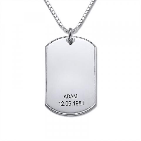 Dogtag Naamkettingen met hanger in zilver