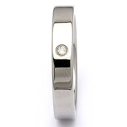 Trouwring in staal 0,025 ct