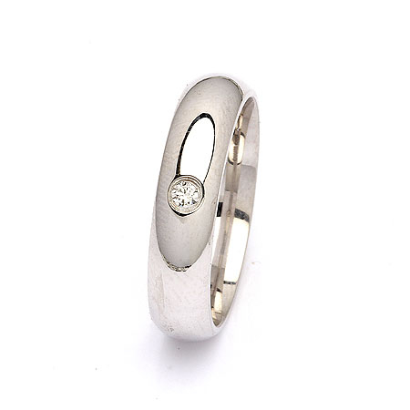 Trouwring in zilver 0,05 ct