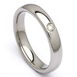 Trouwring in staal 0,05 ct