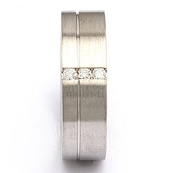 Trouwring in zilver 0,09 ct