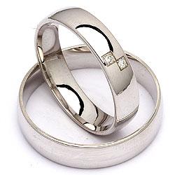 Trouwringen in zilver 0,020 ct