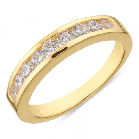 ring in verguld sterlingzilver
