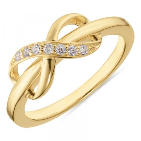 infinity zirkoon ring in verguld sterlingzilver