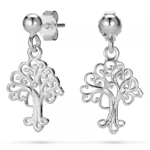 boom van het leven oorbellen in zilver