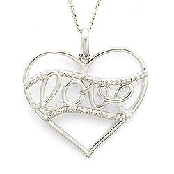 Mooi Love hanger in zilver