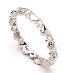 Smal hart ring in zilver