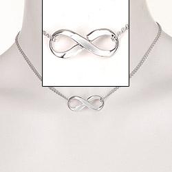 Oneindigheid ketting in zilver