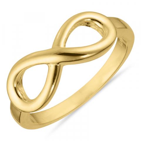 Ring met oneindigheidsteken in verguld sterlingzilver