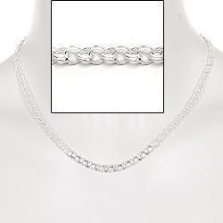BNH bismarck ketting in zilver 45 cm x 5,0 mm