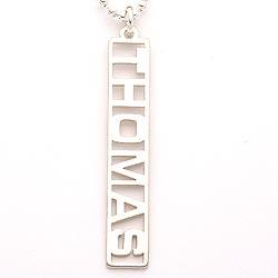 Jongen Naamkettingen met hanger in zilver