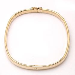 Vierkant BNH armband in 14 karaat goud