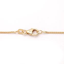 Mooi tarwe ketting in 14 karaat goud 45 cm x 1,0 mm