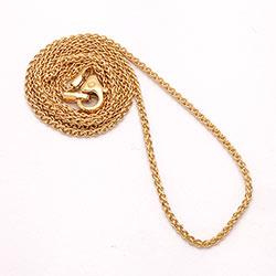 Mooi tarwe ketting in 14 karaat goud 50 cm x 1,3 mm