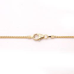 BNH tarwe ketting in 14 karaat goud 55 cm x 1,3 mm