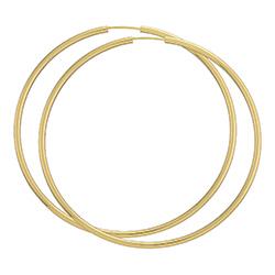 60 mm BNH creool in 8 karaat goud