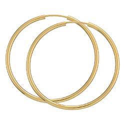 40 mm BNH creool in 8 karaat goud