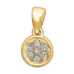 Mooi rond diamanten hanger in 14 caraat goud 0,06 ct