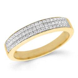 Moderne diamant gouden ring in 14 karaat goud 0,18 ct