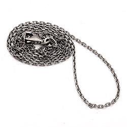 Leuk lange ankerketting in zwart gerhodineerd zilver 80 cm x 1,4 mm