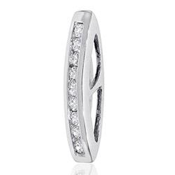 Mooi diamant hanger in 14 caraat witgoud 0,14 ct