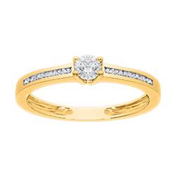 Moderne diamant ring in 14 karaat goud 0,30 ct