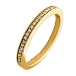 Mooi diamant ring in 14 karaat goud 0,09 ct