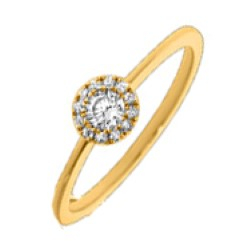 Rond diamant ring in 14 karaat goud 0,16 ct