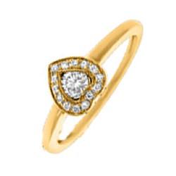 Mooi hart gouden ring in 14 karaat goud 0,18 ct