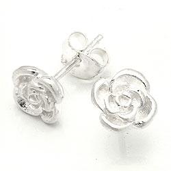 Mooie roze oorbellen in zilver