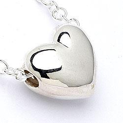 Mooi hart hanger met ketting in zilver