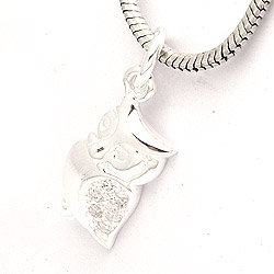 Uil hanger in zilver