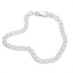Echt armband in zilver  x 3,8 mm