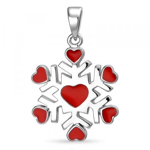 Sneeuwvlokken hanger in zilver