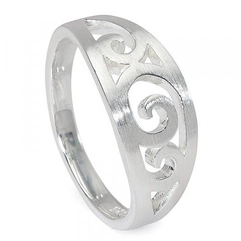 Mat ring in zilver