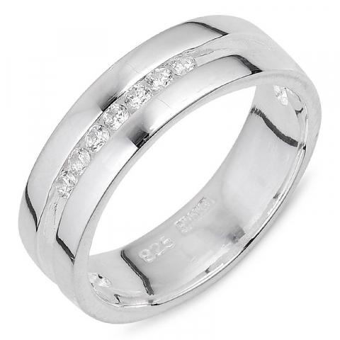 Elegant witte zirkoon ring in zilver