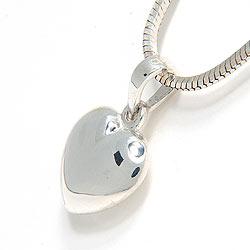 Hart hanger in zilver