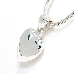 Glanzend hart hanger in zilver