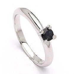 Mooi saffier zilver solitaire ring in zilver