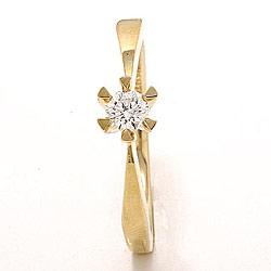 0,20 ct solitaire ring in 14 karaat goud