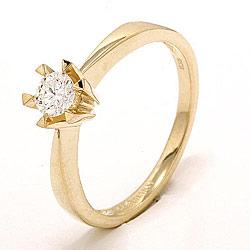 0,30 ct solitaire ring in 14 karaat goud